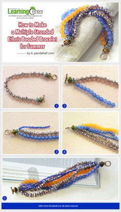 DIY Simple Multiple Strand Ethnic Beading Bracelet #beadedbracelet #ethnicbracelet #pandahall  PandaHall Promotion: use coupon code MayPINEN10OFF for 10% off for your orders, valid time from May 18 to May 31.