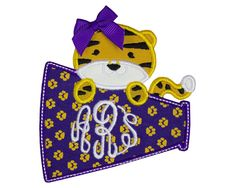 Iron on Patches - Appliqués - Embroidered Patches by Name Patches, Sew On Patches, Iron On Patches, Applique Monogram, Embroidery Applique, Embroidery Designs, Football Girls, Football Fans, Tiger Girl