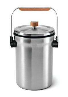 simplehuman Compost Pail, Stainless Steel by simplehuman. $58.63. Compost made simple: collect food scraps in this convenient, odor-minimizing stainless steel pail.. Ventilated lid: a pattern of vents along the lid allows air to flow and helps control odors. Natural bamboo handle: comfortable bamboo handle for convenient carrying. Convenient lid hook: hang the lid anywhere along the rim of the pail. Odorsorb filters: natural charcoal odorsorb filter is mounted und...