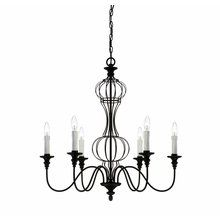 View the Savoy House 1-6010-6-17 Abagail Six-Light Single-Tier Chandelier from the Heartland Whimsical Collection at LightingDirect.com.