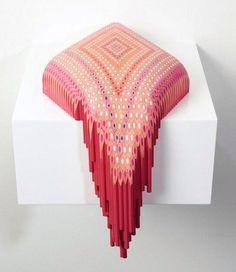 Adam Blue @Art4anyone    Pencil #sculpture by Lionel Bawden #art #contemporaryart