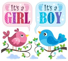 Cute birds with baby card vector 01