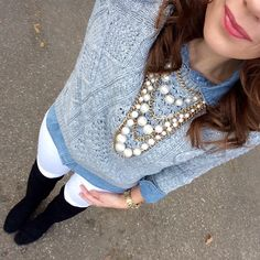 Chambray and Gap Sweater