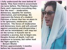 Benazir Bhutto (Written Approx. 3 mos. before her Assassination)