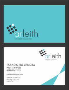 The Horizontal Variation of ArLeith's business card.
