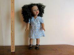 """Robe retro en voile de coton liberty pour poupée  My life  de Madame Alexander ou Journey girls 45 cm. dress dolls 18"""""""
