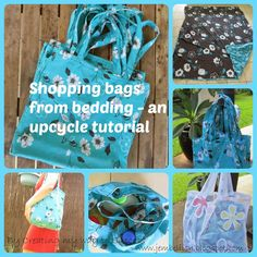 Creating my way to Success: Shopping bags from bedding - an upcycle tutorial