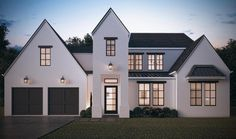 Find your dream modern-farmhouse style house plan such as Plan which is a 2966 sq ft, 5 bed, 4 bath home with 2 garage stalls from Monster House Plans. European House Plans, Modern House Plans, Large House Plans, Modern Farmhouse Porch, Victorian Farmhouse, Modern Cottage, Farmhouse Ideas, 5 Bed House, Colonial Style Homes