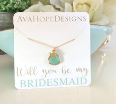 Gold Necklace Initial Necklace Personalized gift by AvaHopeDesigns
