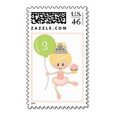 Shop Custom Ballerina Birthday Postage Stamps Brunette created by OccasionInvitations. Ballerina Birthday, Girl Birthday, Birthday Ideas, Pink Tutu, Self Inking Stamps, The Balloon, Beautiful Children, Postage Stamps, Initials