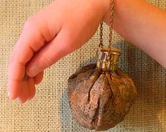 Fine French Brocade Coin Pouch - Unusual Vintage Brass Metal Gate Closure - Victorian Steampunk Fans Take Note!