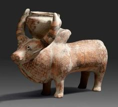 Terracotta humpbacked bull. Indus Valley, 3rd millennium B.C.