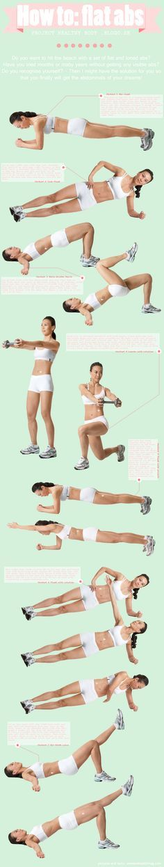 Get your flat abs without doing a single crunch!