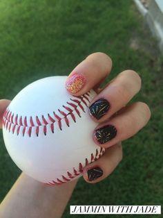 Backyard fun! I'm sporting #CandyAppleJN gel enamel, #BacheloretteJN gel enamel, and #FireworksOnClearJN (retired wrap). #JamminWithJade #BoyMom #BaseballMom