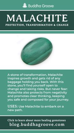 Malachite - Protection, Transformation, and Change