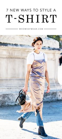 Easy, fashion-forward ways to style a t-shirt