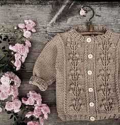 Ravelry: Currant Cardigan (crochet, recipe) pattern by Marina Ayueva Baby Knitting Patterns, Baby Patterns, Crochet Patterns, Knitting Tutorials, Shawl Patterns, Loom Knitting, Free Knitting, Stitch Patterns, Romper Pattern