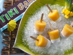 MAI TAI TIKI RUM COCKTAIL POPS  Rum-spiked fruity treats might be just what grownups need to cool off at a picnic.  Make Mai Tai tiki rum cocktail pops »
