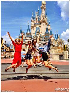 Nina Dobrev, Candice Accola & Kayla Ewell at Walt Disney Magic Kingdom