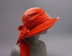 Woman's hat, Lisette Importer Millinery, c. 1927.