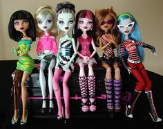 Monster High Dolls. I have a feeling that I would have loved these, if they were around when I was a kid.