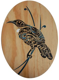Shane Hansen is a Maori Artist based in Aotearoa New Zealand. He creates original paintings, limited edition prints and a range of objects and products. His artwork is mostly themed around native birds, his heritage and connection to the land. Bird Stencil, Stencil Art, Stencils, Abstract Sculpture, Sculpture Art, Ice Sculptures, Bronze Sculpture, Tui Bird, Maori Symbols