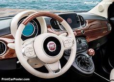 Fiat 500 Riva 2017 poster, #poster, #mousepad