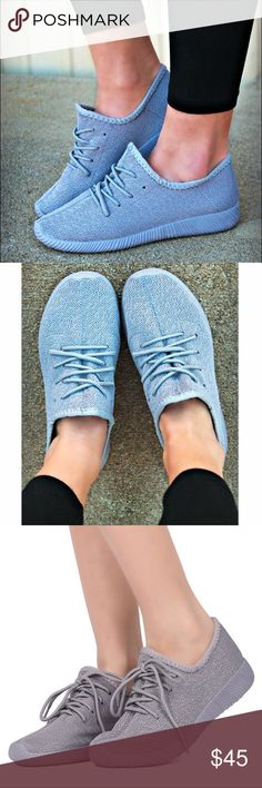 CHRISSIE-MARIE Uber comfy sneaks - GREY Super comfy & cute lace up sneakers. Runs TRUE TO SIZE. Available in pink & grey. True color is pic 3-5PRICE FIRM Shoes Sneakers