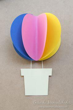 Guirnalda a todo color de globitos de aire - Guía de MANUALIDADES