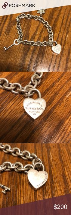 Tiffany & Co. charm bracelet Tiff & co. Charm bracelet. Good condition! Tiffany & Co. Jewelry Bracelets