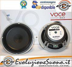 Audison Voce AV 6.5 Coppia Woofer 16,5 cm 165 mm 200W NUOVI GARANZIA UFF ITALIA • EUR 142,00