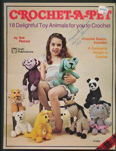 needlework pattern booklet  Crochet a Pet panda donkey