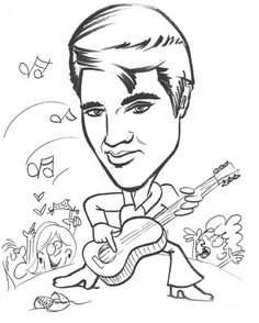 15 Best Elvis Coloring Pages Images Celebrities Coloring Pages