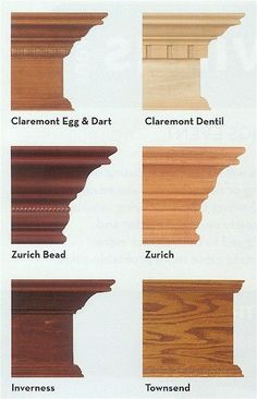 Bingo! Wooden cornices (Crown moulding) to finish the Billys when we put them in the game room. The colour of the Zurich Bead or more particularly the Inverness looks right for them - but would need to see samples. I think my preferred profiles are the Inverness and the Claremont Egg & Dart, although the Zurich looks more like what we have as cornicing.: