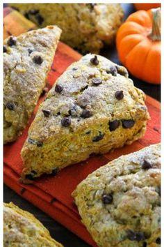 Chocolate Chip Pumpkin Scone: Chocolate chips and pumpkin are a match made in scone heaven!