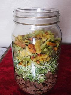 Meals in a jar.  This blogger dry-packs a complete meal in a single mason jar -- one for every week of the year.  And some of them are good for up to 10 years.  Normally I link to a specific post, but this case, I'm pinning to the entire category on her blog.