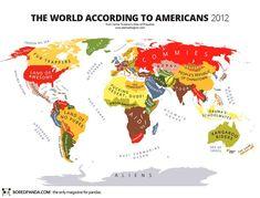 El mundo según los americanos.