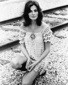 Jacqueline bisset 1960s in fab crochet mini