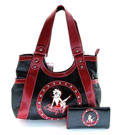 Betty Boop BP10150 Large Handbag and Wallet Set, Black with Rhinestones Price: $39.90 + $9.90 shipping