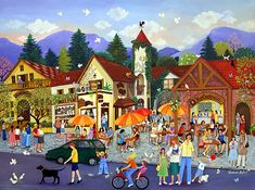 Mountain Holiday by Veronica Labat - GINA Gallery of International Naive Art