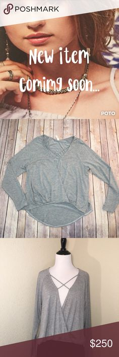 """🆕Ekattire Long Sleeve Criss-Cross Top Reposh, Ekattire, long sleeve fashion top. Size Small. High- low hem, gray top with strap detailing across the chest. Super soft and light weight. Approx. measurements. Bust 18.5"""", waist 18.5"""", shoulder to front hem 19"""", to back hem 25.5"""", sleeve inseam 15.5"""". Purchased from Elaine. First photos are from @itselaine closet. Please use the offer button and bundle for a discount. Thanks 💋 505 ekattire Tops Tees - Long Sleeve"""
