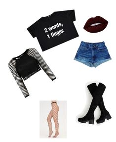 """Middle Finger"" by rorrim-em-rorrim on Polyvore featuring Lime Crime and Punk"