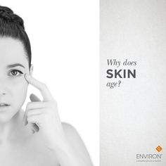 The aging of the skin is predominantly a natural process, where over time, the skin produces less collagen and oil gland functioning slows. Ageing can also be affected by lifestyle choices and environmental influences, i.e. sun damage, level of activity, not enough laughter, too much stress, skin care neglect, and so forth. Learn more about how Environ's science-backed products work to improve the appearance of the skin: www.dermaconcepts.com