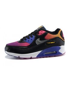 half off dd47f 80786 Femme Nike Air Max 90 Noir Sd Persian Violet Rose Force Cool Gris Chaussures