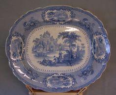 George Phillips Longport Staffordshire Verona earthenware platter c1840