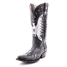 Johnny Ringo Black Phoenix Cowboy Boots