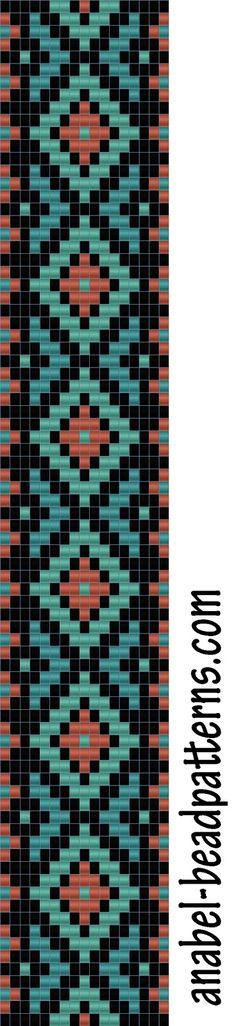 - bead loom pattern - bracelet