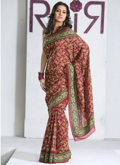 Indian awesome style bridal sarees collection (11)