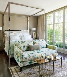 Master bedroom decorating with our collection of cozy spaces that do bedside seating just right