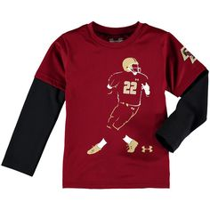 Boston College Eagles Under Armour Toddler Neon Player Long Sleeve Performance T-Shirt- Maroon - $26.39